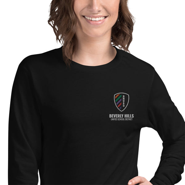 BHUSD Black Unisex Long Sleeve Tee