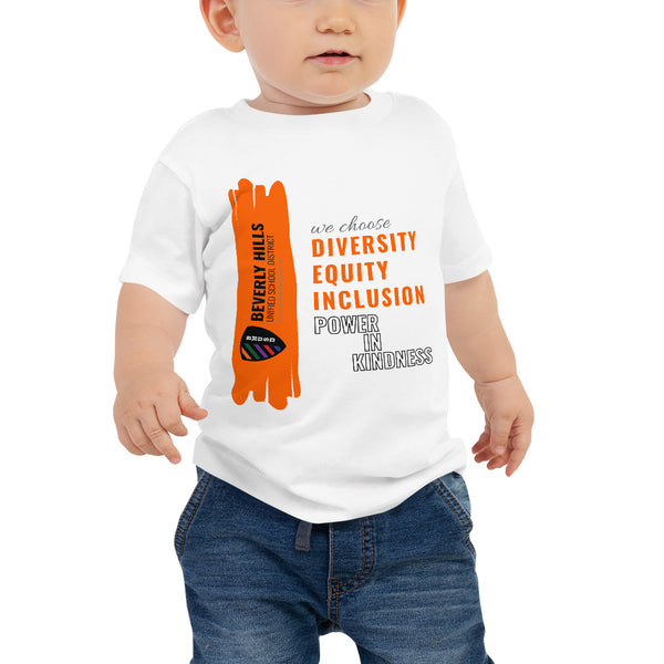 White Baby Jersey Short Sleeve Tee - National Bullying Prevention Month and Unity Day