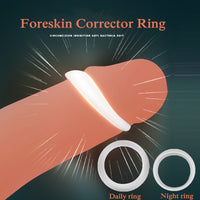 2PCS Silicone Male Foreskin Corrector / Night Cock Ring