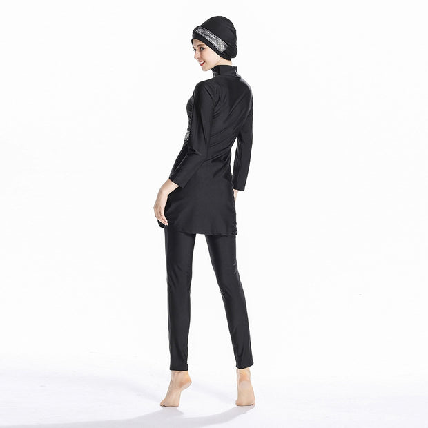 Women's Modest Islamic Swimsuits Sequin Burkini - Health Wiser