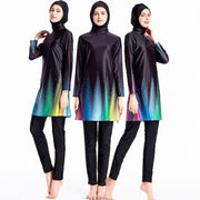 Islamic Women Sport Patchwork Burkinis - Health Wiser
