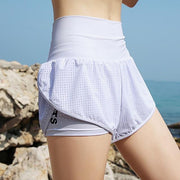 Women's Quick Dry High Double Layer Yoga Shorts - Health Wiser