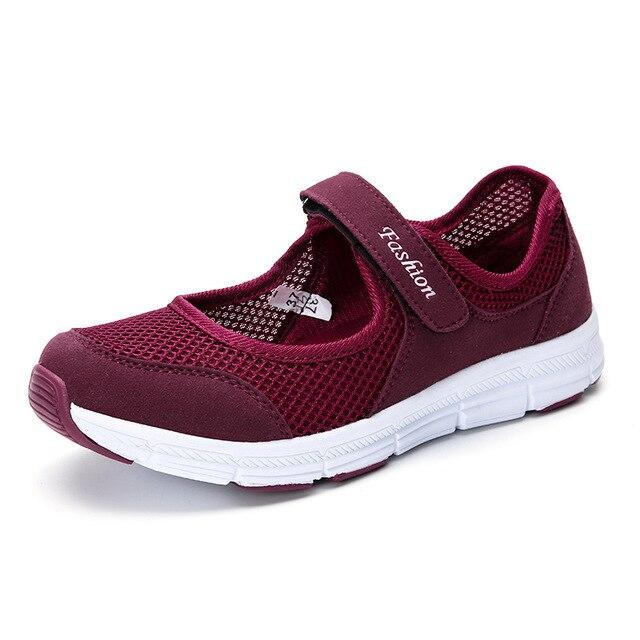 Women Summer Mesh Sport Running Shoes - Health Wiser