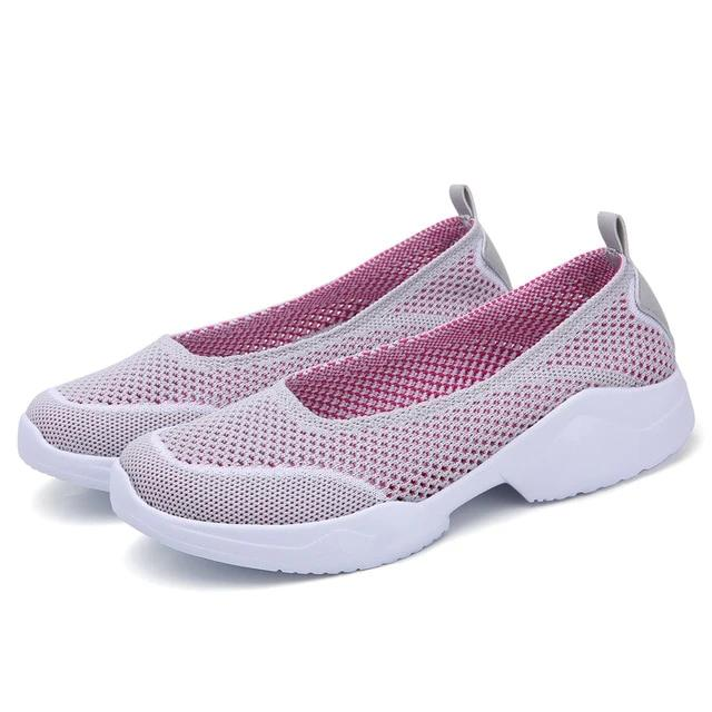 Women's Mesh Breathable Hollow Flats Shoes - Health Wiser