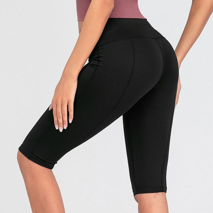 Women's High Waist Athletic Running Shorts Bodycon - Health Wiser