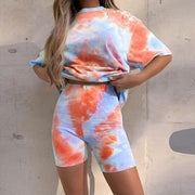 Women Tie Dye 2 Piece Outfits Tracksuit - Health Wiser