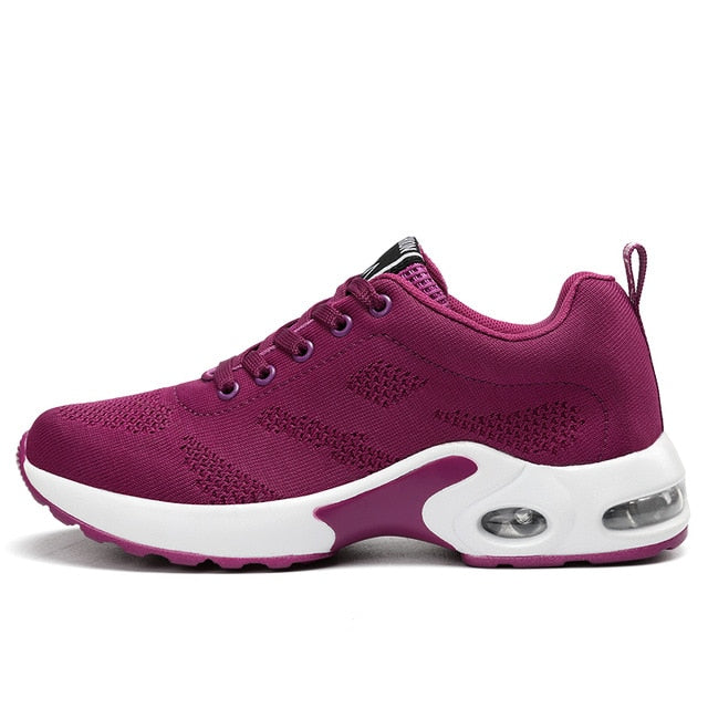 Women Air Cushion Height Increasing Running Shoes - Health Wiser