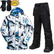 Men's Windproof Ski Snowboard Jacket And Pants Suit - Health Wiser