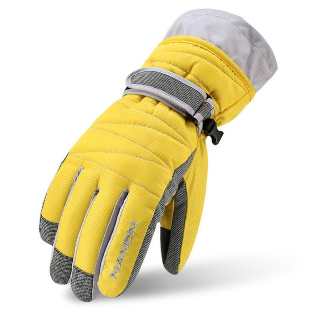 Warm Winter Snow Skiing Windproof Gloves with Long Cuff - Health Wiser