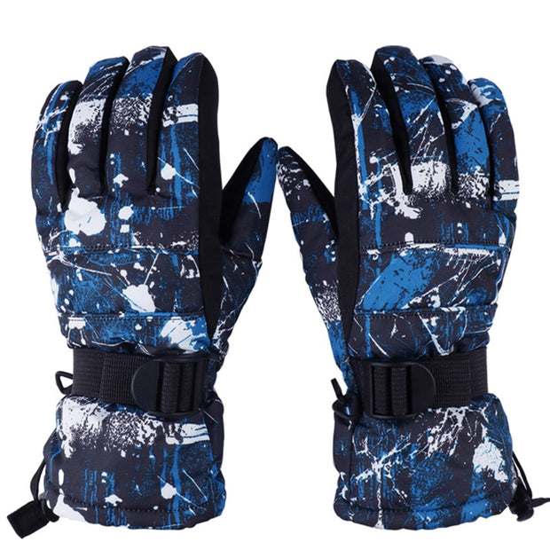 Unisex Winter Warm Ski Fleece Waterproof Gloves - Health Wiser
