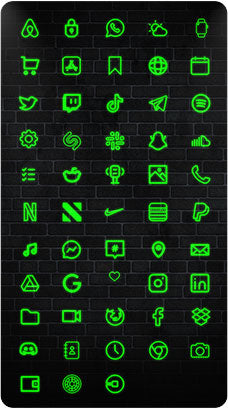 The Neon Green iOS 14 Icon Pack