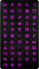 Charger l'image dans la galerie, The Neon Pink iOS 14 Icon Pack