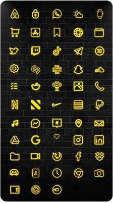 The Neon Yellow iOS 14 Icon Pack