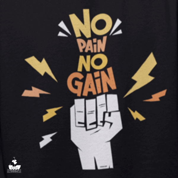 No pain No Gain Men Half Sleeve Gym T-Shirt