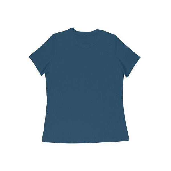 Navy Blue Fully Solid Half Sleeve Women T-Shirt - Teeboat