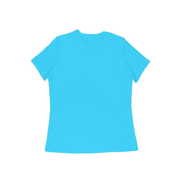 Sky Blue Solid Half Sleeve Women T-Shirt - Teeboat