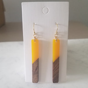 Mustard Yellow Resin Earrings