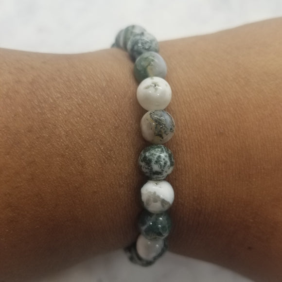 Tree Agate Stretch Bracelet