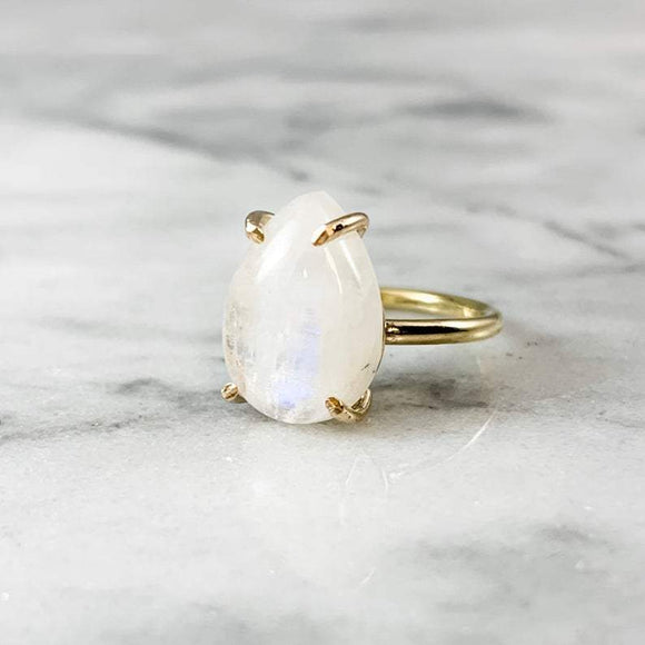 Pear Moonstone Ring PRE-ORDER