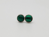 Malachite Lilly Earrings