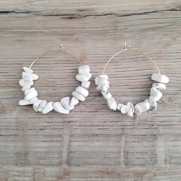 Howlite Ella Earrings