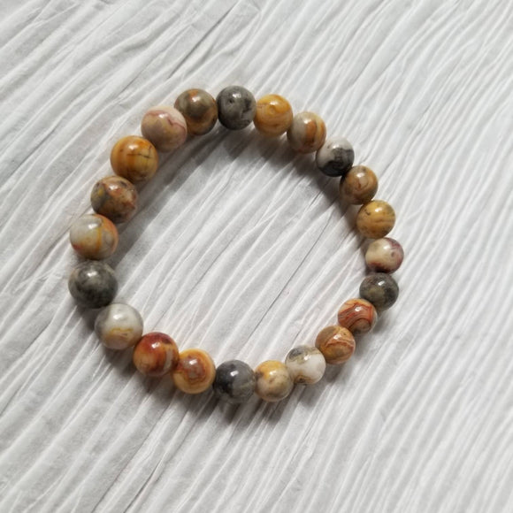 Crazy Lace Agate Stretch Bracelet