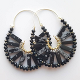 Snowflake Obsidian Dani Earrings