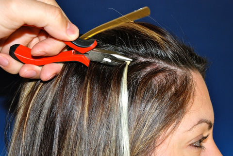 How to apply micro ring hair extensions you may place the extensions accordig to the persons head and hair type and the number of micro ring extension you intend to use solutioingenieria Gallery