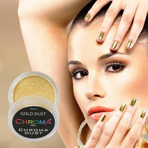 Chroma Dust No.1 Gold Dust Chrome Powder - Mirror Nails 2g - Beauty Hair Products Ltd