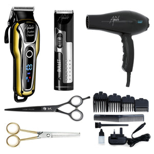 "Barber Kit - With 6.5"" Black Cobalt Scissors - Beauty Hair Products Ltd"