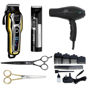 "Barber Kit - With 7"" Black Cobalt Scissors - Beauty Hair Products LtdAccessories"