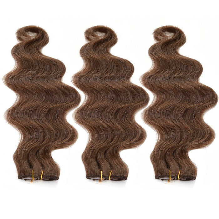 "Body Wave Clip in Hair 18"" 3 packs of 6 clips attached"