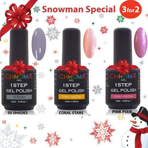 Chroma Gel 3 for 2 Snowman Special 1 STEP LED UV GEL POLISH - Beauty Hair Products LtdChroma Gel