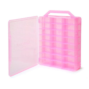 Chroma Gel Nail Polish Case Holder Pink - Beauty Hair Products Ltd