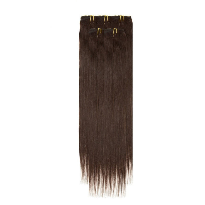 Economy Full Head Clip in Hair 18 Inch | Barely Black