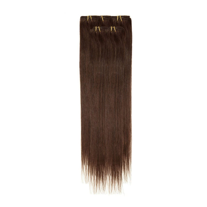 Economy Full Head Clip in Hair 18 inch | Dark Brown (3)