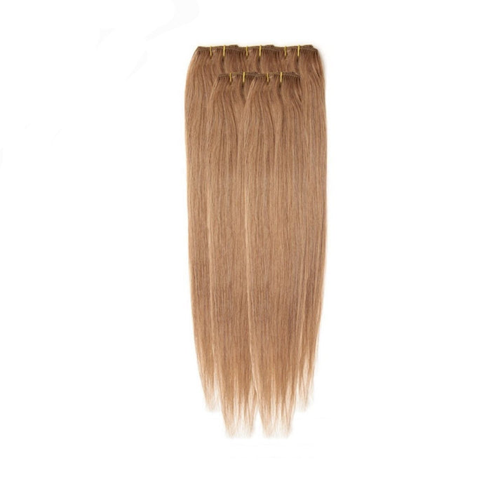 Economy Full Head Clip in Hair 18 inch | Golden Blonde (12)