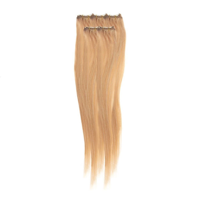 Economy Full Head Clip in Hair 18 inch | Light Golden Blonde Blend