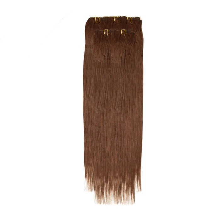 Economy Full Head Clip in Hair 18 Inch | Mocha Brown (4)