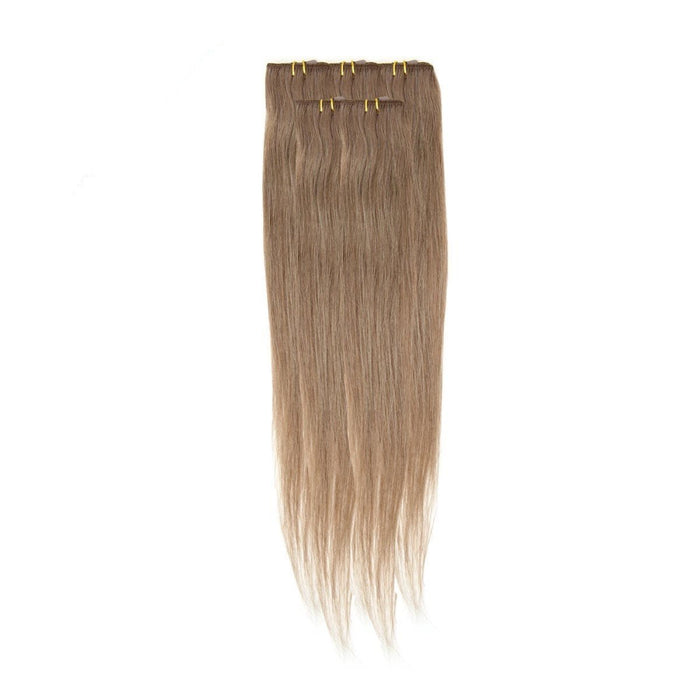 Economy Full Head Clip in Hair 18 inch | Mousey Brown (8)
