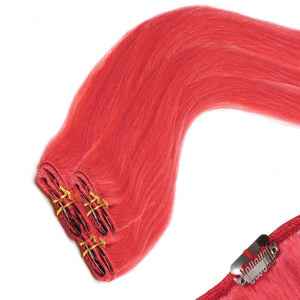 Economy Full Head Clip in Hair 18 inch | RED - Beauty Hair Products LtdHair Extensions