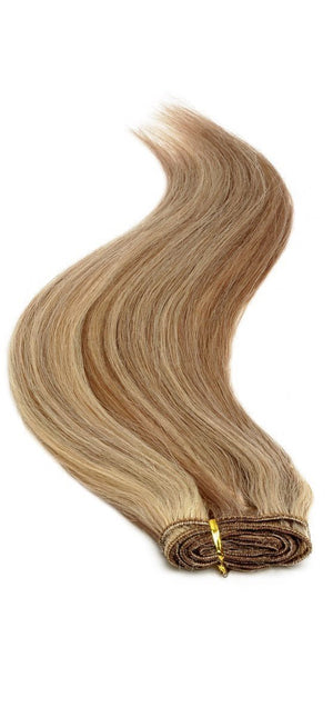 "Euro Weave Hair Extensions 18"" Brown Sunshine Mix 8/24 - Beauty Hair Products Ltd"