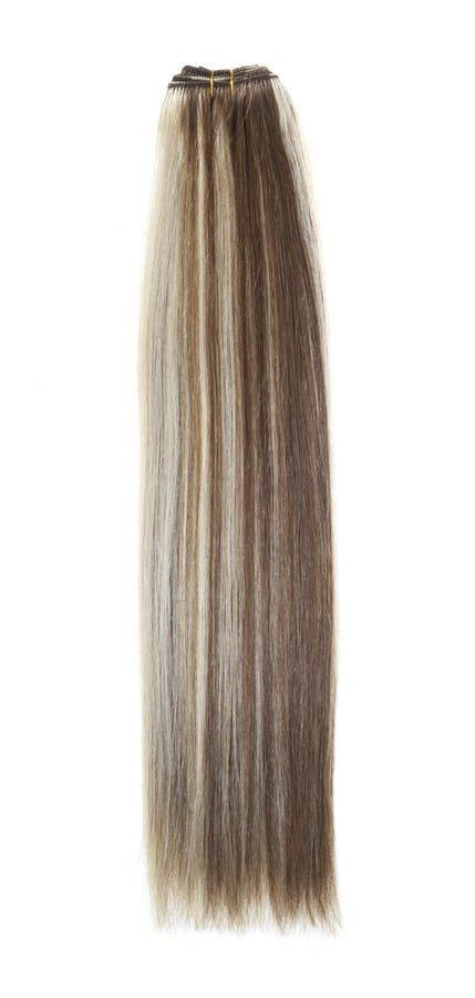 "Euro Weave Hair Extensions 18"" Light Brown/Starlight Blonde Mix"