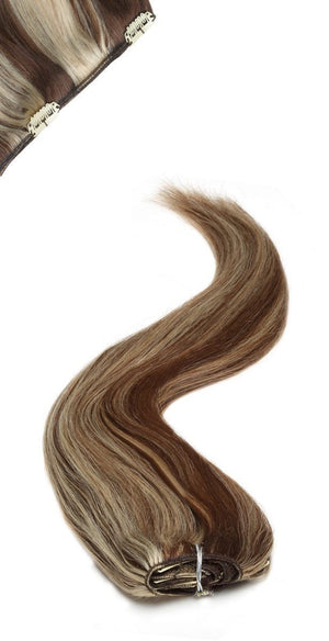 Full Head | Clip in Hair | 18 inch | 2/613 Darkest Brown Starlight - Beauty Hair Products LtdHair Extensions