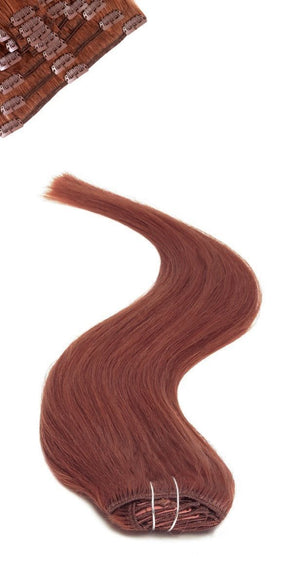 Full Head | Clip in Hair | 18 inch | Auburn Red (33) - Beauty Hair Products LtdHair Extensions