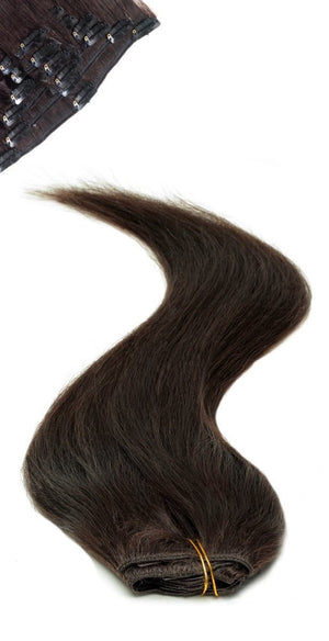 Full Head | Clip in Hair | 18 inch | Barely Black (1B) - Beauty Hair Products Ltd