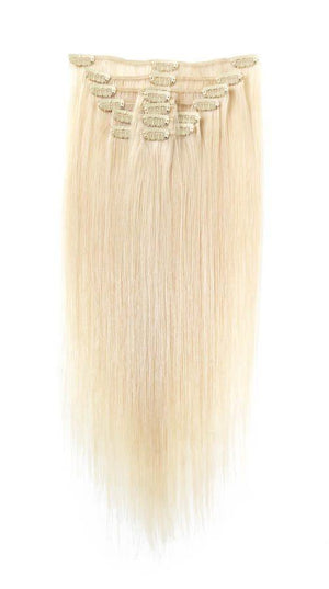 Full Head | Clip in Hair | 18 inch | Blondest Blonde 600 - Beauty Hair Products LtdHair Extensions