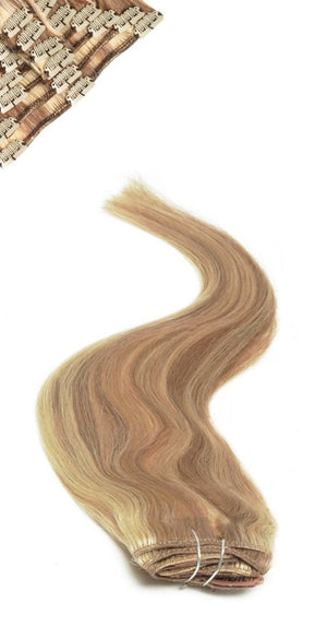 Full Head | Clip in Hair | 18 inch | Brownie Blonde Blend 10/22 - Beauty Hair Products LtdHair Extensions