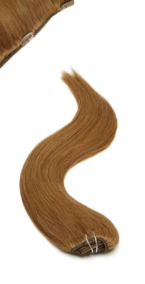 Full Head | Clip in Hair | 18 inch | Hazel Brown - Beauty Hair Products LtdHair Extensions