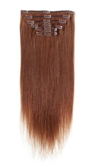Full Head | Clip in Hair | 22 inch | Auburn (33) - Beauty Hair Products LtdHair Extensions